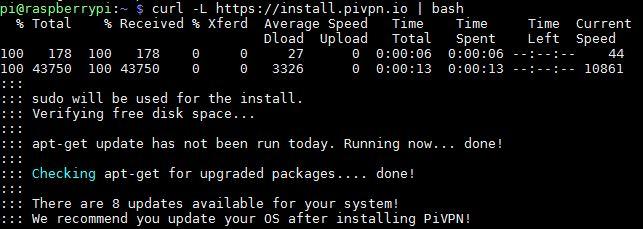 Instalacion PiVPN