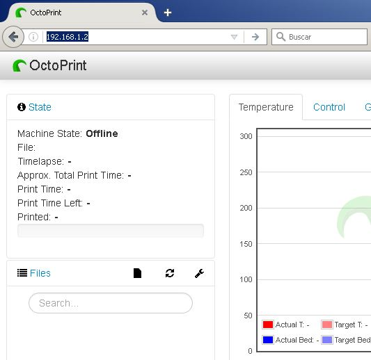 octopi web interface